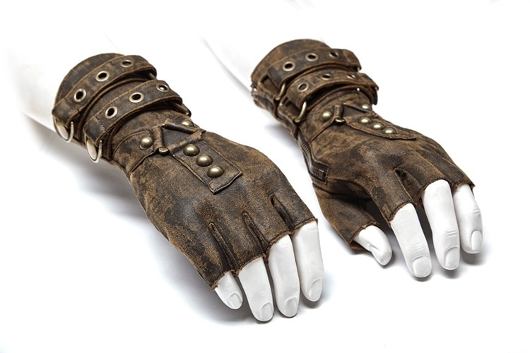 Fingerlose Steampunk Handschuhe