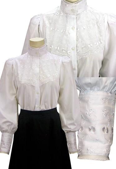 Bluse im viktorianischen Stil