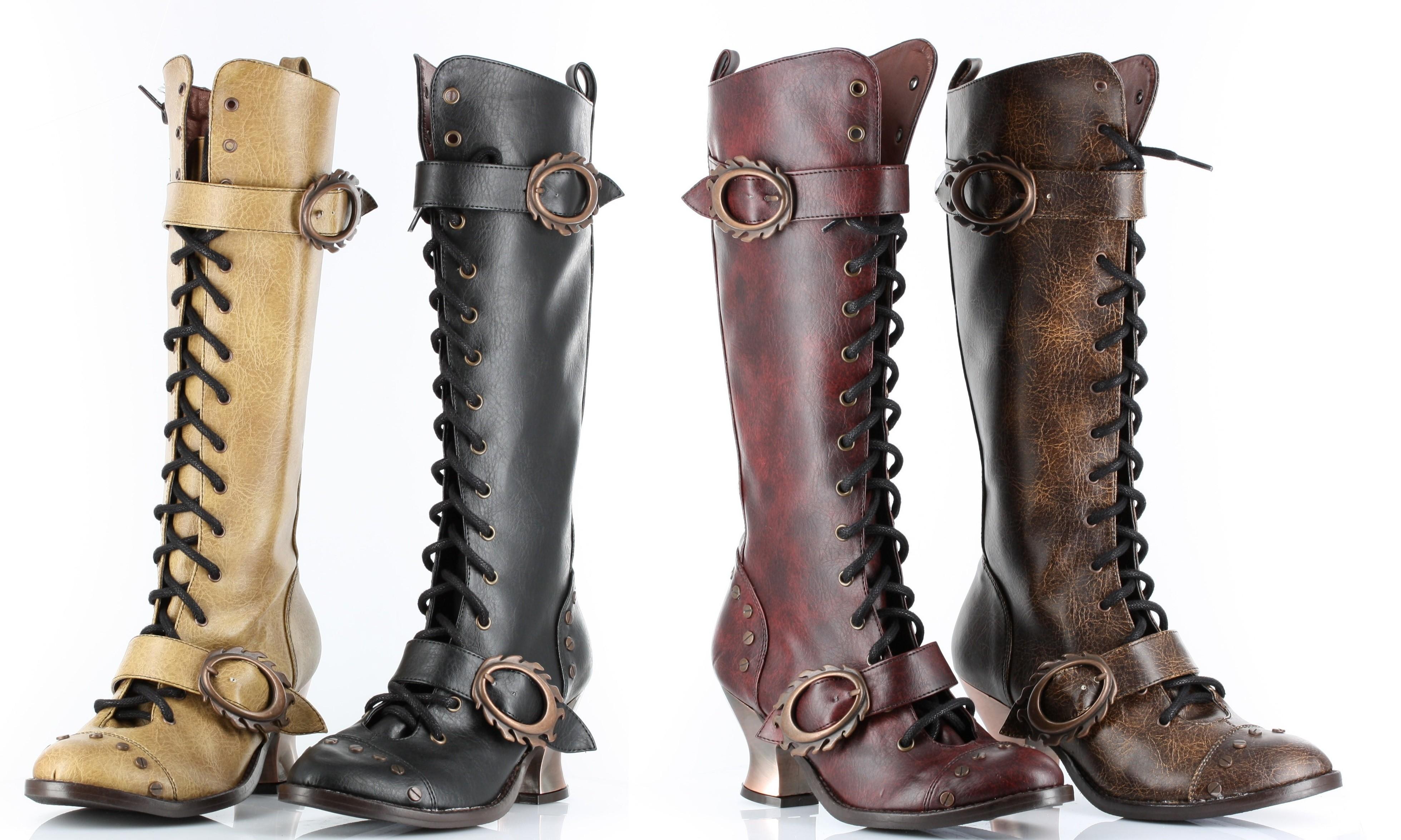 """Steampunk Stiefel """"Vintage"""" - in 5 Farben"""