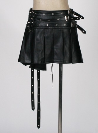 Schwarzer Gothic Faltenrock