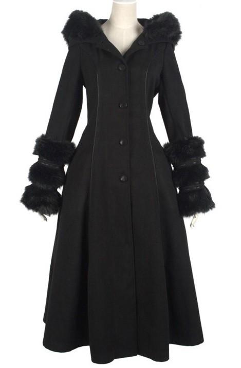 """Eleganter schwarzer Mantel """"Noir"""""""