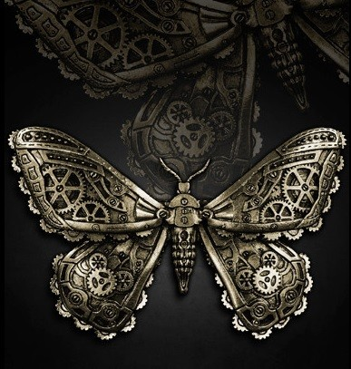 "Steampunk Haarspange ""Mechanical Moth"""