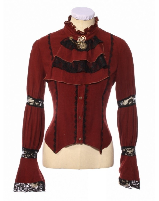 "Steampunk Bluse ""Cherry"""