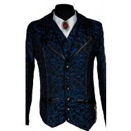 Blaue Brokat Jacke