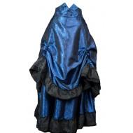 Blauer Rüschenrock