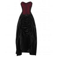 Rot-schwarzes Korsettkleid