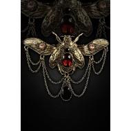 """Halskette und Brosche """"Steampunk Beetle"""""""