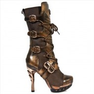 New Rock Steampunk Leder-Stiefel