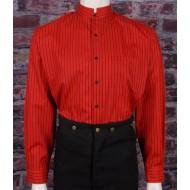 Rotes Hemd mit Stehkragen