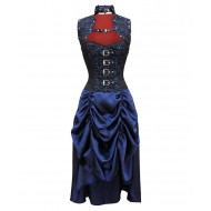 Blaues Korsettkleid Gr. L