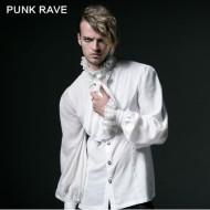 Gothic Punk Rave Hemd weiß Herren Jabot 2-teilig Y-522W