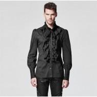 Schwarzes Rüschenhemd