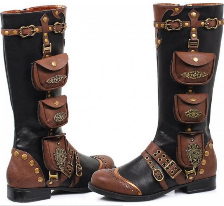 steampunk adventure boots stiefel steampunk schuhe ladies. Black Bedroom Furniture Sets. Home Design Ideas