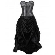 Silber-schwarzes Korsettkleid