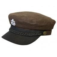 Braune Kapitänsmütze