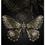 "Steampunk Haarspange ""Mechanical Moth"""