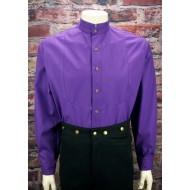 Violettes Hemd mit Stehkragen