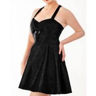 Schwarzes Brokat Kleid